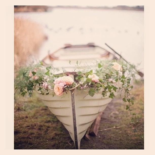 Boat With Flowers